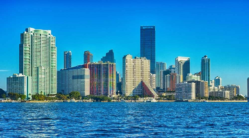 Miami Florida city skyline