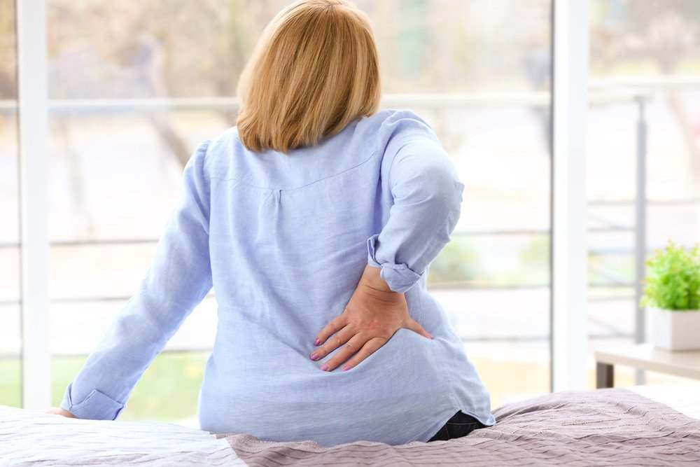 woman with a backache
